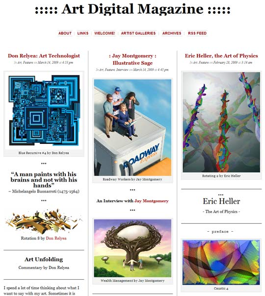 Art Digital Magazine by Max Eternity